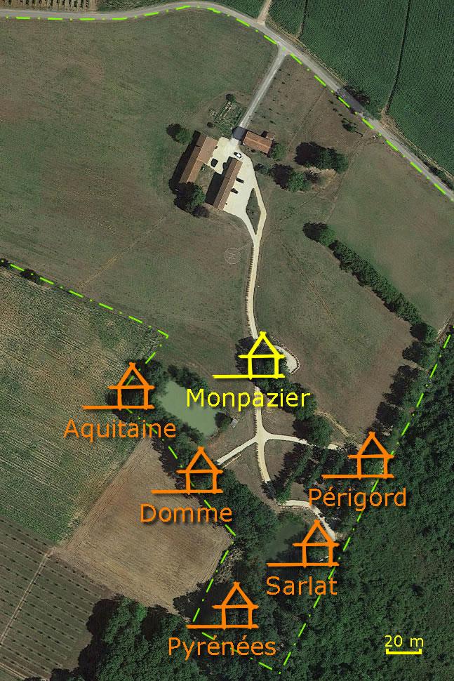 La cabane Monpazier, perchée dans les arbres